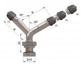 Вентиль латунный б/к  33645-68